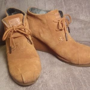 TOMS Desert Wedge Boots - Lace up
